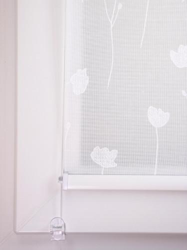 Mini Roletas Blumenbeet Weiss